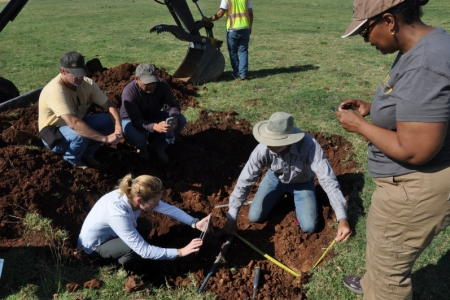Soil scientists at UC Merced. Photo by C. Swarth.